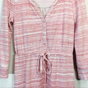 Anthropologie Dresses - Anthropologie Shirt Dress Sweatshirt Pink Small